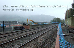 The new Risca Station